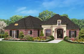 plan 11731hz french country split plan brick exteriors country