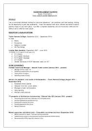 Sample Of Resume For Part Time Job By Student by Nadeem Cv Part Time Jobs