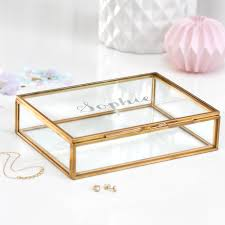 personalized jewelry box glass jewellery box personalized jewelry box wedding