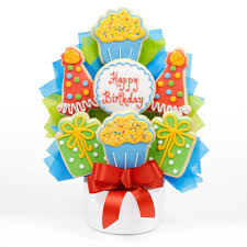 cookie baskets birthday party cutout cookie bouquet