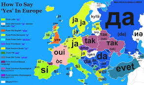 Map Of Romania In Europe by Map Of How To Say Yes In The Countries Of Europe