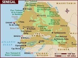 africa map senegal map of senegal