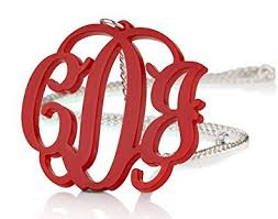 acrylic monogram necklace acrylic 1 6 monogram necklace custom made with