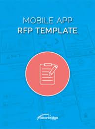 mobile app rfp template download