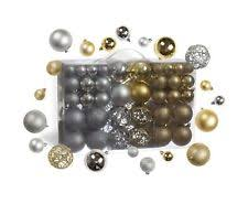 100pcs gold silver ornament shatterproof balls