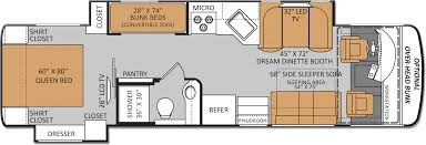 bunk beds class a rv floor plans thor 31e bunkhouse holiday