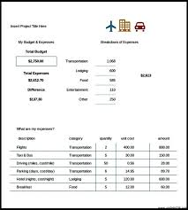 Travel Budget Template Excel Sle Travel Budget Template In Excel Format Template Update234
