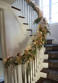 Banister Decor Pretty Christmas Staircase Decorating To Make Beautify Your