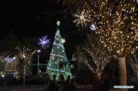 tree lit up in bethlehem xinhua news cn