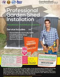 garden shed installation sydney nsw