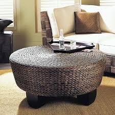 Seagrass Storage Ottoman Best Of Rattan Storage Ottoman With Round Wicker Coffee Table With