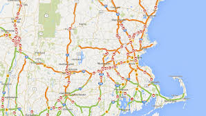 mass pike exits map accidents lanes on mass pike i 91 as sleet changes to