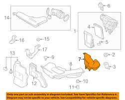 nissan oem 14 16 rogue air cleaner intake inlet duct tube hose
