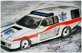 cartoon ferrari ferrari testarossa ambulance ambulancia concept pb car illus