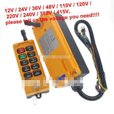 free shipping 48v 6 channels 1 speed hoist crane truck radio
