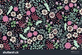 seamless folk pattern small wild flowers stock vector 687140500