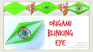 Make Your Own Halloween Decorations Kids Halloween Crafts Diy Origami Blinking Eye Easy Paper Crafts