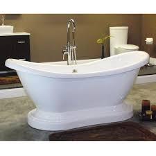 Acrylic Bathtub Restorers 68 Inch Double Slipper Pedestal Acrylic Bath Tub Van