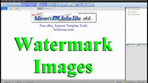 how to watermark images for ebay templates step by step tutorial