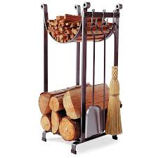 amazon com enclume sling log rack with fireplace tools hammered