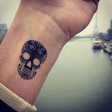 skull black wrist tattoomagz