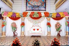 marriage decorations bangalore stage decoration design 378 flower stage decoration