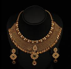 jewelry designs necklace sets images Gold and diamond jewellery designs beautiful antique necklace jpg
