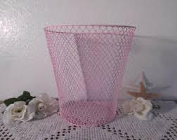 wire waste basket etsy
