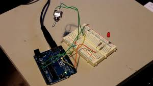 simple arduino toggle switch example youtube