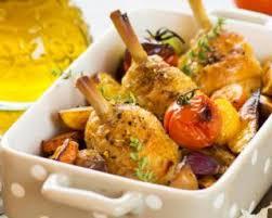 poulet cuisine recette de cuisses de poulet et légumes rôtis au four pour novice en