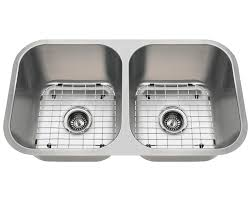 A Double Bowl Stainless Steel Kitchen Sink - Double bowl undermount kitchen sinks