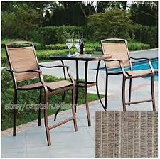 Outdoor Furniture High Table And Chairs by Bistro Table Bar High Chair Set 3 Pieces Outdoor Patio Furniture