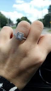 neil emerald cut engagement rings neil bridal 1 3 8 ct tw ring 14k white gold