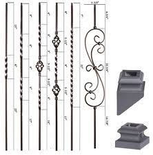 Parts Of A Banister Wrought Iron Balusters Building U0026 Hardware Ebay