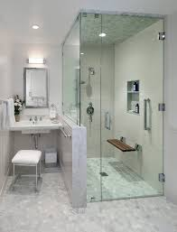 Mirrored Subway Tile Backsplash Bathroom Transitional With by Cost To Redo Bathroom Transitional With Glass Shower Door Subway