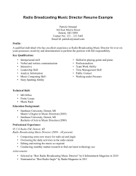 resume samples examples sample musician cover l peppapp