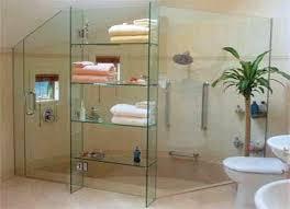 Glass Shelving For Bathrooms Glass Shelves For Orderly Bathrooms Glass Shelves