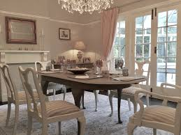 queen anne style dining set hand painted in french grey and old