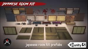 Japanese Room Artstation Japanese Room Kit Unity3d Emma Salamanca