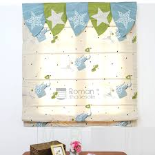 Kids Roman Shades - chic elegant pattern beige embroidery cotton roman shades for kids
