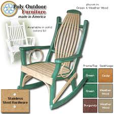 Outdoor Furniture Rocking Chair by Order Poly Outdoor Bent Rocking Chair From Shop Nc Com