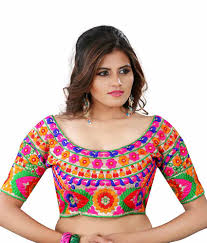 readymade blouse buy kuvarba fashion multi color fabric silk embroidered readymade