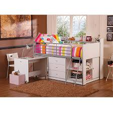 Bunk Bed With Storage And Desk Storage Loft Bed With Desk White Walmart