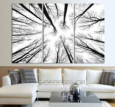 large wall canvas prints tree branches wall forest
