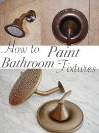 How To Paint Bathroom Fixtures One Room Challenge Week 3 Bathroom Vanity And Painted Faucets