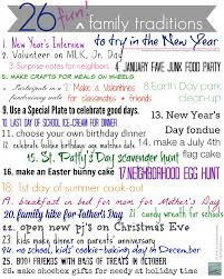 26 cool new family traditions to start in the new year printing