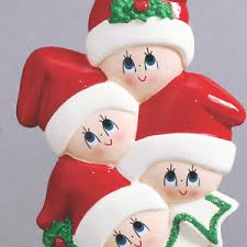 personalized family of four ornaments mrsclauschristmas