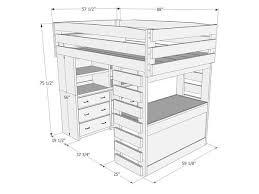 l002 loft bed desk u0026 dresser the bunk u0026 loft factory