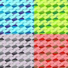 four seamless abstract geometric patterns set of backgrounds of