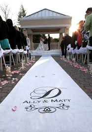 white aisle runner wedding aisle runner personalized white wedding aisle